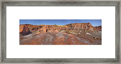 Ancient Abandoned Mines In Rio Tinto Framed Print by Panoramic Images