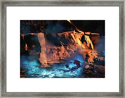 Ancient Aliens Coming Home Framed Print by Barbara D Richards
