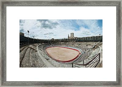 Ancient Amphitheater In A City, Arles Framed Print by Panoramic Images