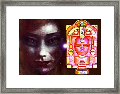 Ancient Artifact From The Future Framed Print by Hartmut Jager
