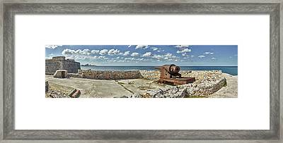 Ancient Artillery At Morro Castle Framed Print