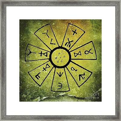 Ancient Astrology Framed Print by Mindy Bench