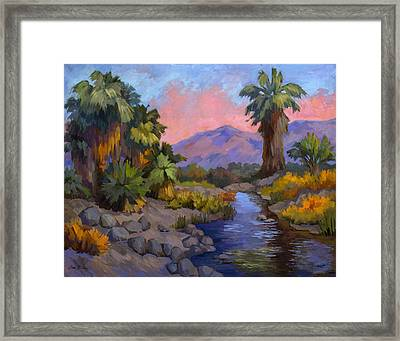 Ancient Cahuilla Fish Traps Framed Print by Diane McClary