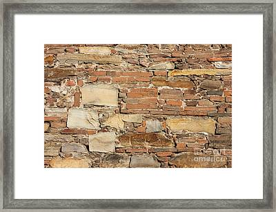 Ancient Church Wall Background Framed Print
