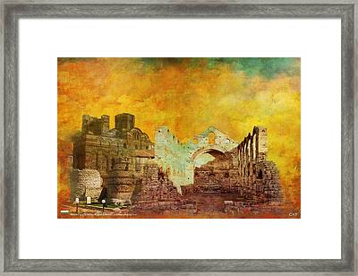 Ancient City Of Nesseba Framed Print by Catf