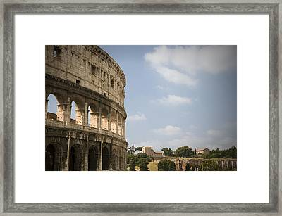 Ancient Colosseum Framed Print by Jeremy Voisey