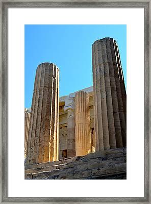 Ancient Columns Framed Print by Corinne Rhode