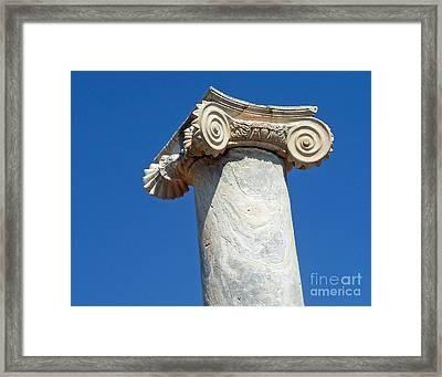 Framed Print featuring the photograph Ancient Delos Greece by Cheryl Del Toro