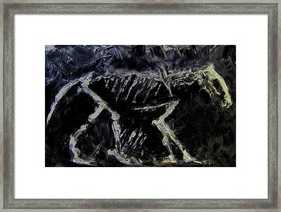 Framed Print featuring the digital art Ancient Dog Skeleton by Jim Vance
