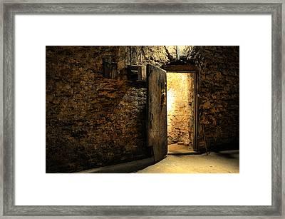 Ancient Door Framed Print
