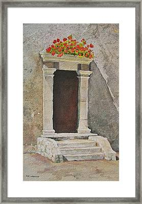 Ancient  Doorway  Framed Print by Mary Ellen Mueller Legault