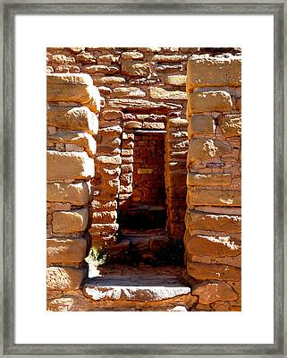 Framed Print featuring the photograph Ancient Doorways by Alan Socolik