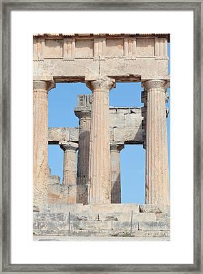 Ancient Doric Columns Framed Print