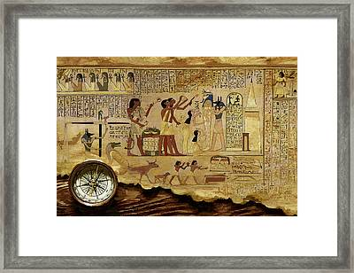 Ancient Egypt Civilization 06 Framed Print by Catf