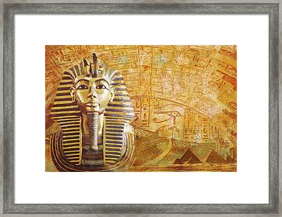 Ancient Egypt Civilization Detail 02 Framed Print by Catf