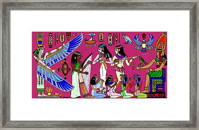 Framed Print featuring the painting Ancient Egypt Splendor by Hartmut Jager