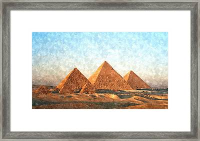 Ancient Egypt The Pyramids At Giza Framed Print