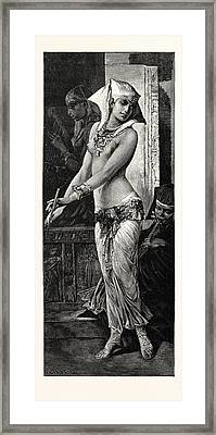 Ancient Egyptian Dancing Girl Framed Print by Litz Collection