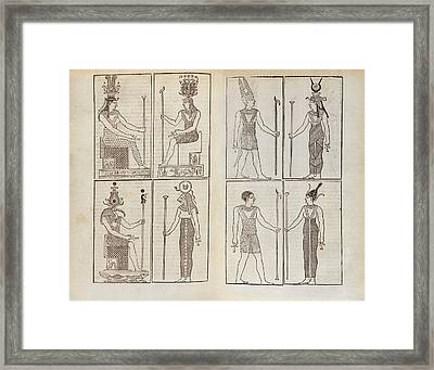 Ancient Egyptian Deities Framed Print by Middle Temple Library