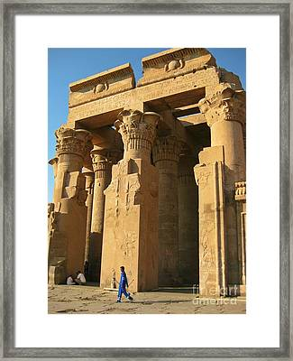 Ancient Egyptian Monument Framed Print by John Malone