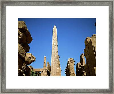 Ancient Egyptian Obelisk At Karnak Framed Print by Robert Brook/science Photo Library