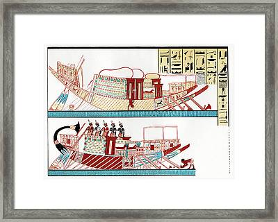 Ancient Egyptian Ships Framed Print by Cci Archives