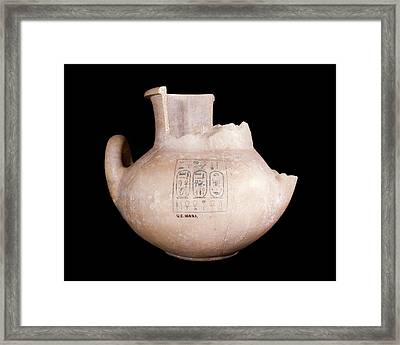 Ancient Egyptian Stone Jar Framed Print by Petrie Museum Of Egyptian Archaeology, Ucl