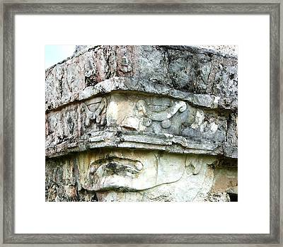 Ancient Face Framed Print