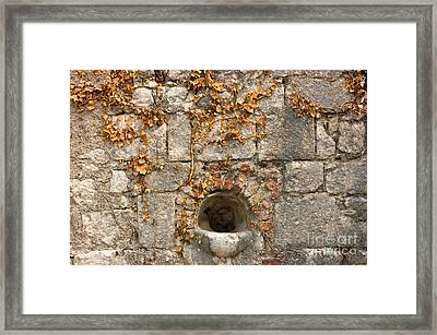 Ancient Fortress Wall Background Framed Print