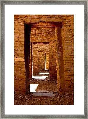 Ancient Galleries Framed Print