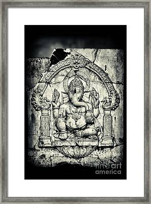 Ancient Ganesha Framed Print by Tim Gainey