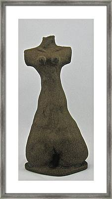 Ancient Goddess Framed Print by Mario Perron