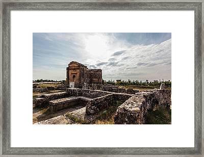Ancient Graves And Burial Chamber Framed Print