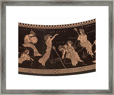 Ancient Greece A Female Dancer Framed Print by Mary Evans Picture Library