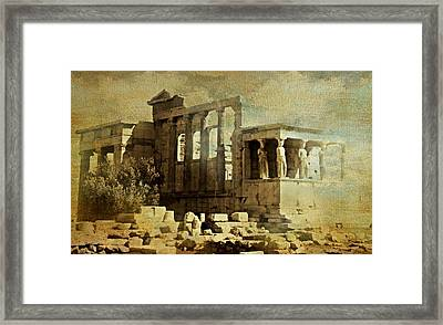Ancient Greece Framed Print by Diana Angstadt