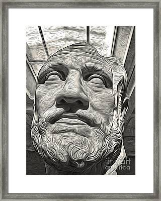 Ancient Greek Bust Framed Print by Gregory Dyer