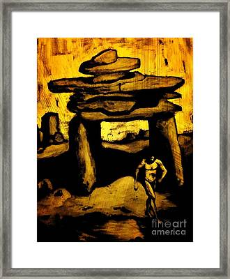 Ancient Grunge Framed Print