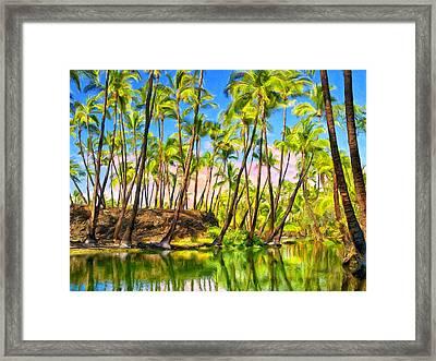 Ancient Hawaiian Fish Pond Framed Print