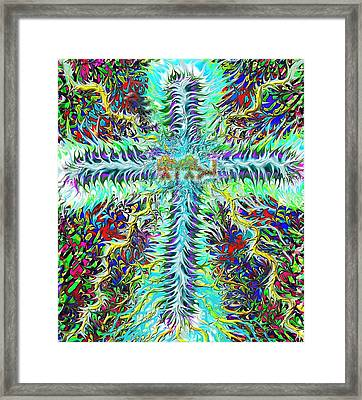 Ancient Hebrew Yhwh Cross 6 7 2014 Framed Print