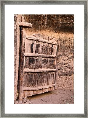 Ancient Kasbah Door Framed Print
