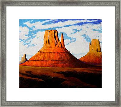 Ancient Land Monument Valley Framed Print by Joe  Triano