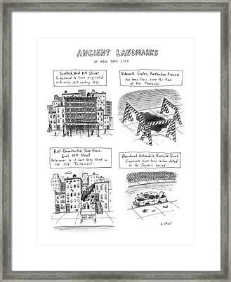 Ancient Landmarks Of New York City Framed Print