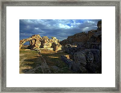 Framed Print featuring the photograph Ancient Landscape North Cyprus by Jim Vance