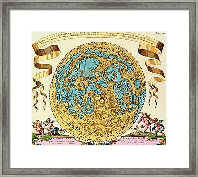 Ancient Map Of The World Framed Print