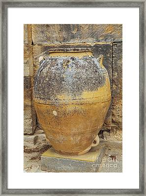 Ancient Minoan Big Pots From About  2000 Bc Framed Print