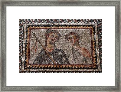 Ancient Mosaic Tiles Framed Print