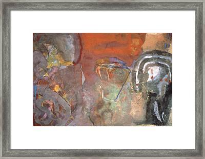 Ancient Orange Framed Print
