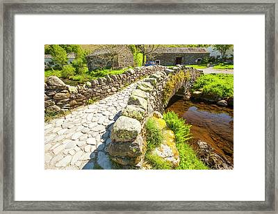 Ancient Packhorse Bridge Framed Print by Ashley Cooper