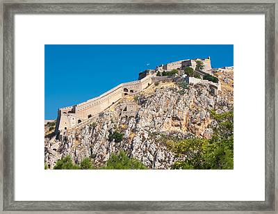 Ancient Palamidi Fortress Framed Print by Gurgen Bakhshetsyan