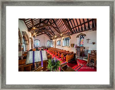 Ancient Parish Church Framed Print by Adrian Evans